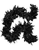 "Deluxe Large Black 72"" Costume Accessory Feather Boa [Apparel]"