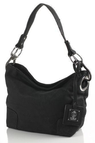 Noble Mount Simple Classic Everyday Hobo/Handbag – Black