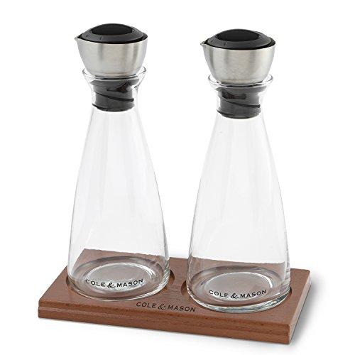 COLE & MASON Olive Oil & Vinegar Dispenser Set - Cruet ...