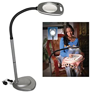 Mighty bright led floor light and magnifier 2x 5x bright for Mighty bright led floor lamp and magnifier