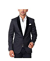 Belario Men's Regular Fit Suit(BBV0038_Black_38)