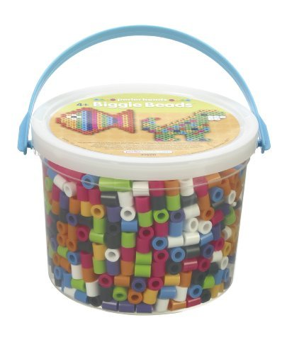 Bead Bucket Includes 1200 Beads And Ironing Instructions - Perler Beads Biggie Beads Fused Bead Bucket