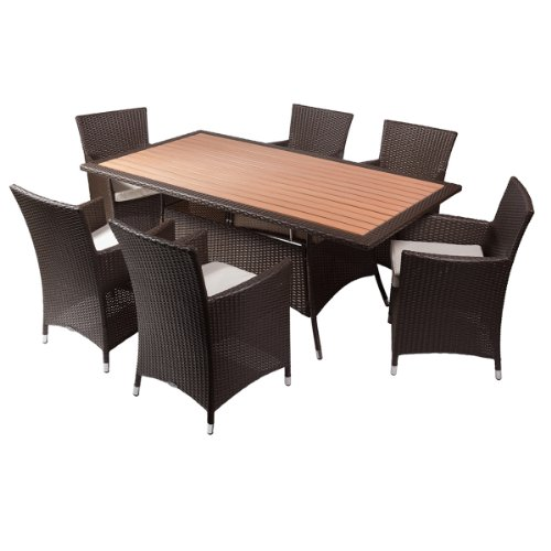 Rattan Sitzgruppe MIAMI mit Esstisch