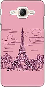 The Racoon Lean printed designer hard back mobile phone case cover for Samsung Galaxy On7 Pro. (paris scri)