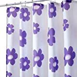 InterDesign Poppy Shower Curtain - Purple