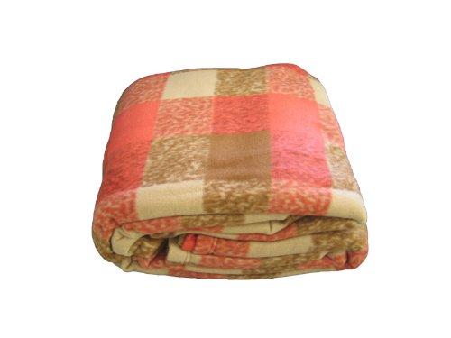 DaDa Bedding BLP922008 Square Printed Polar Fleece Blanket, Full, Brown