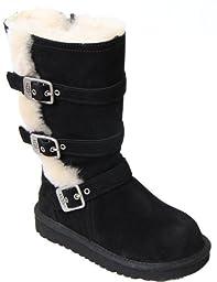 UGG Australia Infants\' Maddi Shearling Boots,Black