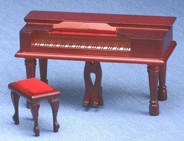 Dollhouse Mahogany Spinet Piano by Superior Dollhouse Miniatures