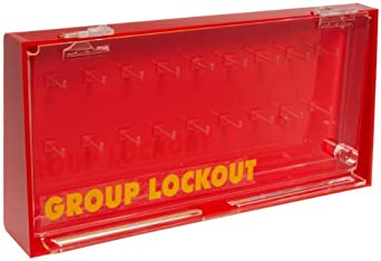 Brady Wall-Mount Group Lock Box for Lockout/Tagout, Acrylic Plastic