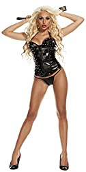Starline Women's Bad Master Girl Bustier and Thong, Black, Medium
