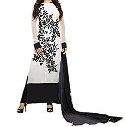 Krishna ECommerce Women's Salwar Suit Dress Material. (MadhuWhite)