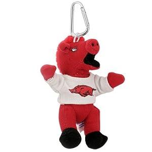 Arkansas Razorbacks Mascot Plush Key Chain/Backpack Clip