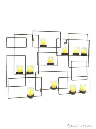 11 Glass Modern Wall Sconce Candle Holder Black Sconces Geometric Art Decor
