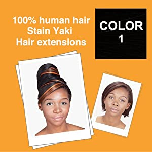 100% human hair Stain Yaki 18