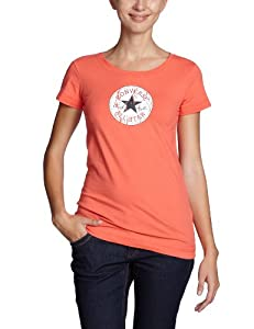 Converse CT Patch Women's T-Shirt hot coral Size:S