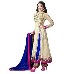 Kumud Kala Women Net Salwar Suit Set (Kkd1108 _Cream _Free Size)