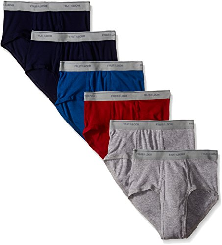 Fruit of the Loom Men's Fashion Brief (Pack of 6), Solids, Large (Fruit Of The Loom Briefs For Men compare prices)