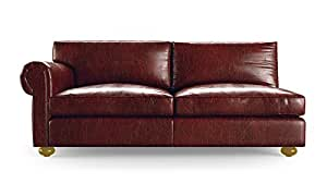 Oliver mid century modern leather single arm Cowboy sofa