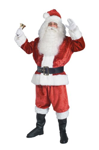 Rubie's Costume Deluxe Crimson Imperial Plush Santa Suit, Red/White, Standard Costume