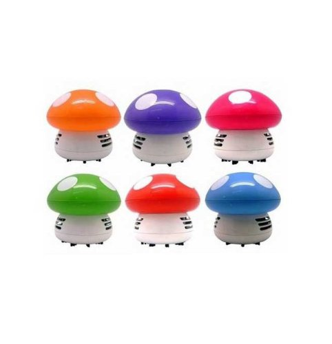 New Portable Cute Mini Mushroom Corner Desk Table Dust Vacuum Cleaner Sweeper front-4265