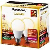 パナソニック LED電球 電球40W形相当 密閉形器具対応 E26口金 電球色相当(4.9W) 一般電球・広配光タイプ 2個入 LDA5LGK40ESW2T