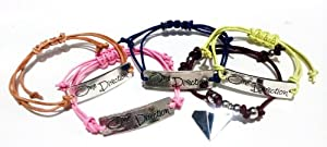 5 Pieces Pack -- One Direction Ultimate Silver Couple Friendship Bracelets Love Forever 1D Boy Band The best gift- One Any Size Adjustable