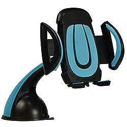 LipiWorld Premium Mobile Phone Car Mount Holder, 360° Rotable Holder Secure Mobile Phone Stand /Blue