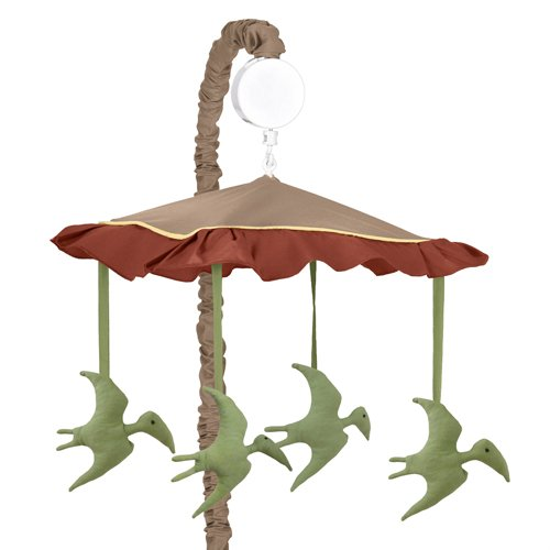 Dinosaur Musical Baby Crib Mobile by Sweet Jojo Designs