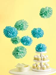 Martha Stewart Crafts Pom Poms, Medium Blue