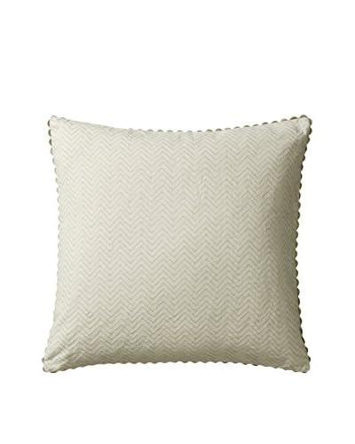 Vera Wang Freesia Quilted Chevron Decorative Pillow, Aqua