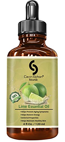 4 fl. Oz Undiluted Lime Essential Oil - 100% Pure, Natural, Premium, Therapeutic & Pharmaceutical Grade, Money Back Satisfaction Guarantee