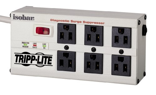 Tripp Lite Isobar6Ultra Isobar Surge Protector Metal 6 Outlet 6Ft Cord 3330 Joules