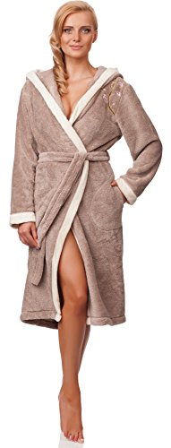 Merry Style Ladies Bathrobe with Hood Liliana