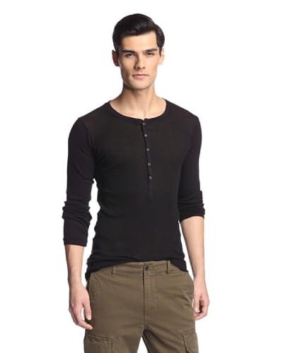 Hudson Jeans Men's Long Sleeve Henley Shirt
