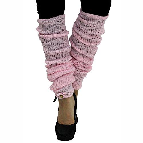 Pink Long Thick Knit Dance Leg Warmers