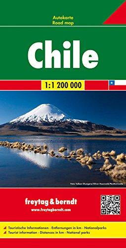 Chile, mapa de carreteras. Escala 1:1.200.000 Freytag & Berndt (Auto karte)