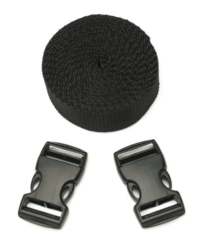 CargoBuckle F14073 Make-A-Strap Kit with 2 Snap-Lock Buckles