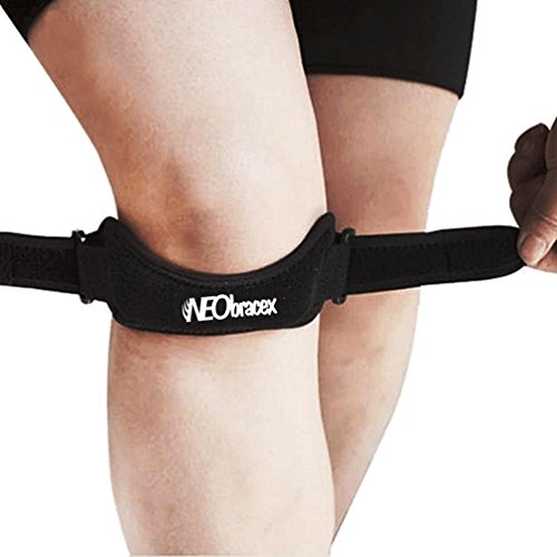 NEObracex Patella Tendon Strap Knee Pain Relief & Patella Stabilizer for Jumpers Knee, Running, Tennis, Osgood Schlatter, Tendonitis, Fully Adjustable Knee Brace (Patella Strap Dial compare prices)