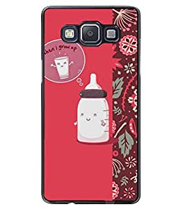 PRINTVISA When I Grow up with Pattern Premium Metallic Insert Back Case Cover for Samsung Galaxy A5 - A500F - D5822