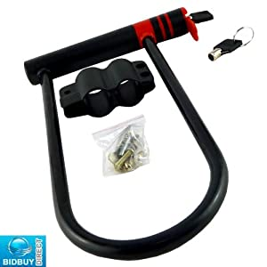 Brand New - High Security Large D Shackle Bike Lock - For Bikes, Motorbikes, Motorcycles, Bicycle, Cycles Security - Fits Both Regular & Large Bike Frames