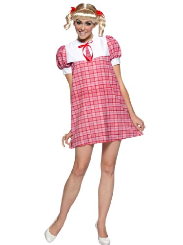 Cindy Brady Bunch Costume Sexy Red Gingham Dress 70s Womens Theatrical Costume