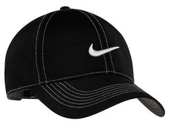 Nike 333114 Unisex Swoosh Front Hat Black One Size