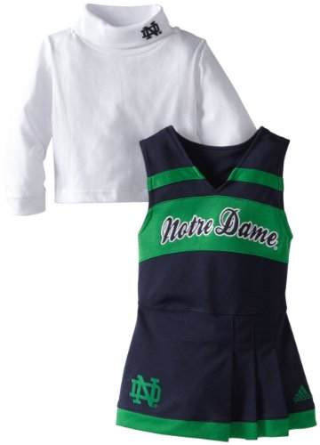 NCAA Notre Dame Fighting Irish Toddler Cheer Jumper Dress with Tank, Blue, 3T at Amazon.com