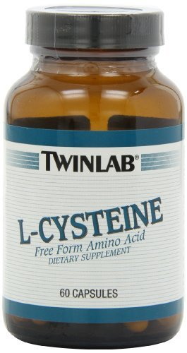 Twinlab L-Cysteine 500mg, 60 Capsules (Pack Of 2)