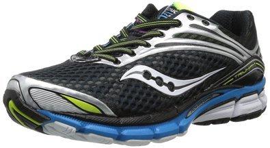Saucony Men's Triumph 11 Running Shoe,Black/Blue/Citron,11 M US