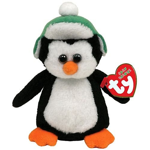 TY Holiday Baby - TOBOGGAN the Penguin (4 inch) - 1
