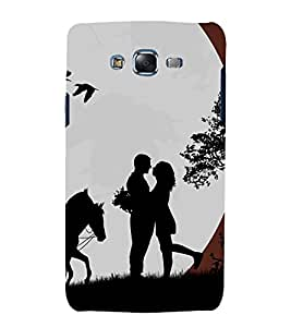 printtech Love Couple Girl Horse Back Case Cover for Samsung Galaxy J7 (2016 EDITION)