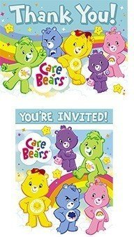 Care Bears Invitations and Thank You Notes, 16pc (Care Bears Invitations compare prices)