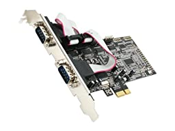 Rosewill PCIe Serial Card 4 Ports Components Other RC-305E Black, Silver