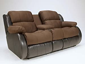 Presley- Two Tone Espresso Reclining Loveseat